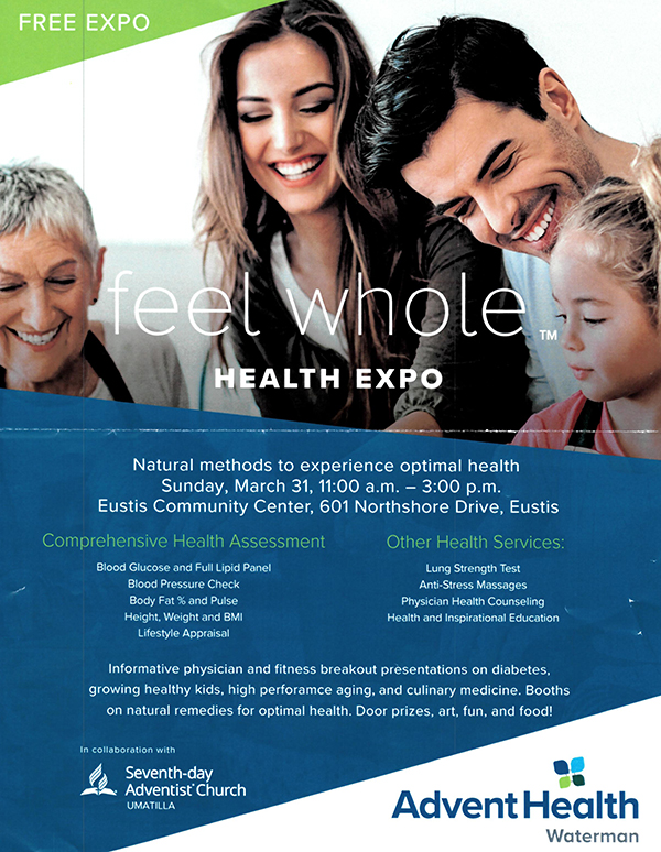 Feel Whole Health Expo - Sunday, March 31, 2018